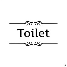 Vintage Wall Sticker Bathroom Decor Toilet Door Vinyl Decal Transfer Home Decoration Quotes Wall Art