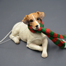 Delicate Jack Russell Terrier Model Resin Scarf Dog Home Decoration Accessories Resins Office Desk Car Garden Valentines Gift