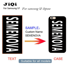 S8 S8 plus Custom Name Personalized Case for Samsung S4 S5 6 7 Edge Plus Note 7 for iPhone 4 5 6 7 Transparent Protective Cover