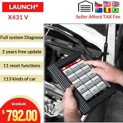 Запуск диагностический X431 V OBDII диагностический инструмент с 11 специальной функцией WiFi/Bluetooth x431 pro Обновление Бесплатный Запуск X431 сканер