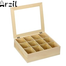 310x280x90mm 12 Compartments Wooden Storage Box Tea Organizer Bag Box Jewelry Accessories Storage Container