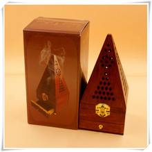 Wood Stove Antique Wood Aroma Of Incense Home Decoration Hollow Pyramid