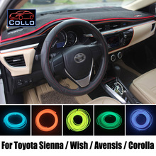 9 Meter EL Wire For Toyota Sienna / Wish / Avensis / Corolla Wagon / Romantic Atmosphere Lamp / Car Decoration Cold Light Line