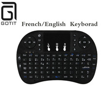 French/English/Italy/Spanish/Portugal/Hebrew/English languages I8 Keyboard Air Mouse for Air Mouse for PC/Laptop/iPad/Android TV