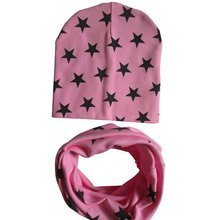 2017 Winter Toddler Boys Girls Kids Baby Soft Cotton Hat Cap+Scarf Scarves Warm Set