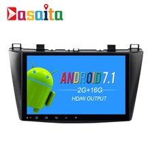 "Dasaita 9"" Android 7.1 Car GPS Player Navi for Mazda 3 2010 2011 2012 with 2G+16G Quad Core No DVD Stereo Radio Multimedia HDMI"