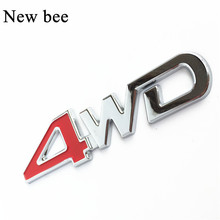 Newbee Car Tail Rear Side Metal 4x4 RC 4WD Sticker 3D Chrome Badge Emblem Decal Styling for SUV Ford Toyota Jeep Mitsubishi(China)