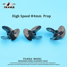 Good Quality High Speed Screw 4mm Prop RC Boat 3 Blades Propeller High Toughness Three Blades Paddle for Rc Boat shaft(China)