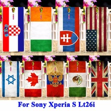 Cell Phone Cases For Sony Xperia S Lt26i SL Lt26ii Case Covers UK Mexico Russia Brazil National Flag Housing Bag Skin Shell