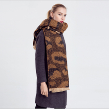 Animal Print Cashmere Scarf women Poncho Duplex Winter Knitted Cashmere Shawls Scarves Leopard Pashmina Shawls scarf  cachecol