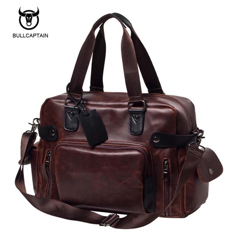 Men Handbags Pu Leather Shoulder Crossbody Bag Vintage Traveling Male Messenger Bags Large Capacity Casual Totes Single<br>