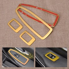 HOTSALE! Tracking # New Gold Car Interior Refit Door Window Switch Panel Trim Cover For BMW 3 Series F30 320 328 2013 2014 2015