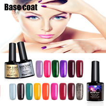Top Quality 12 ml Base Coat Nail Salon Design FAI DA TE Ammollo off UV LED Nail Polish Gel Appiccicoso Top Coat Finitura Gel(China)