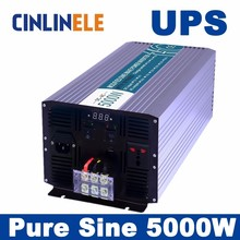Universal inverter UPS+Charger 5000W Pure Sine Wave Inverter CLP5000A DC 12V 24V 48V to AC 110V 220V 5000W Surge Power 10000W(China)