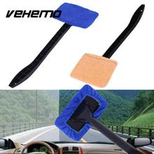 Vehemo Microfiber Long Handle Washable Brush Car Window Windshield Door Wiper Auto Care Cleaner with Towel(China)