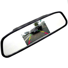 "5"" HD CCD Car Mirror Monitor Rear View Mirror Monitor For Car Backup Rearview Parking System Camera(China)"