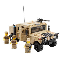 Military War Vehicle Hummer H1 Willys MB Jeep Car Model Building Blocks Toys for Children Compatible With lepin Bricks Gift