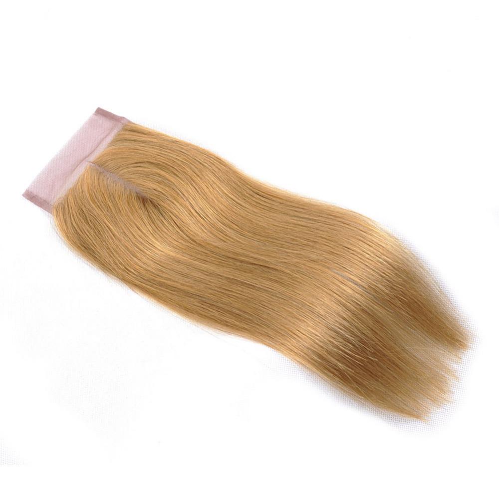 Honey Blonde Brazilian Straight Hair Weave Bundles Color 27 100% Human Hair Extensions (16)