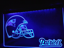 LD327- New England Patriots Helmet Bar LED Neon Light Sign home decor crafts(China)