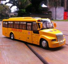 1:32 scale alloy school bus model, high simulation children bus toys, metal casting,collection model vehicle, free shipping(China)