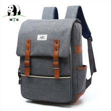 Brand Men Male Canvas Backpack College Student School Backpack Bags for Teenagers Vintage Mochila Casual Rucksack Travel Daypack(China)
