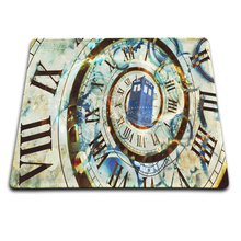 doctor who tardis Clock Funny Mat Free Shipping Mouse Pad Rubber Mat Two Sizes