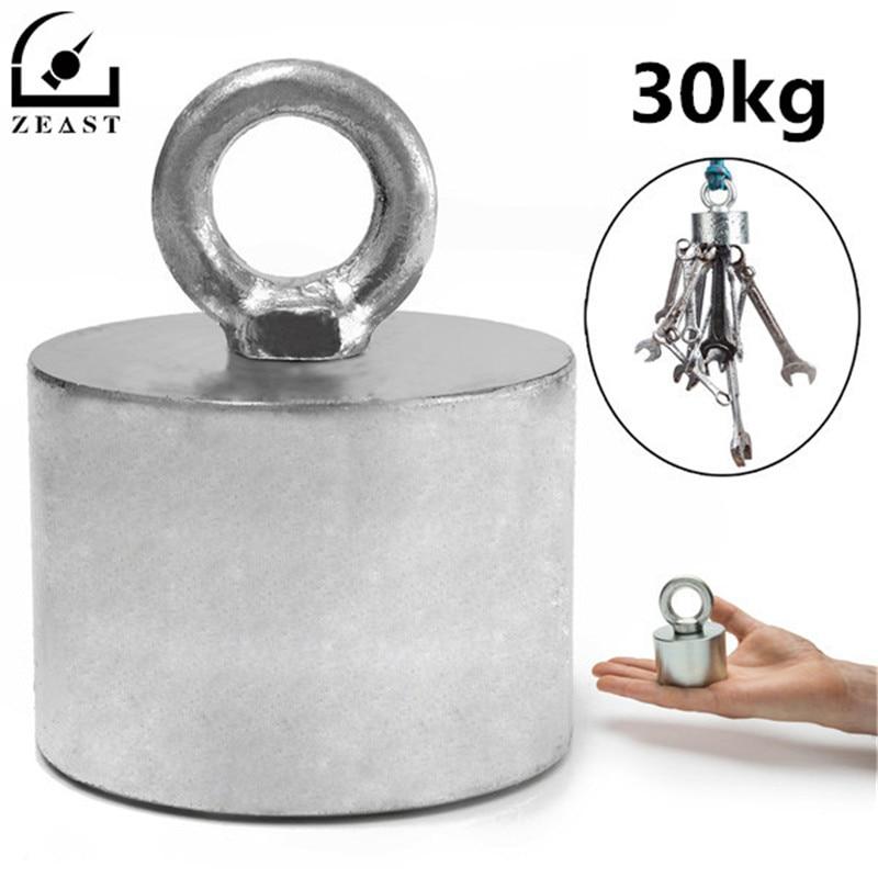 Metal Detector Neodymium Magnet Treasure Recovery Hunting Fishing 55x40mm 30kg <br>