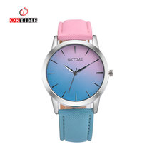 OKTIME Casual Retro Rainbow Design Watch Women Analog Quartz Watches Clock Relogio Feminino Elegant Lady Wristwatch Female Hour