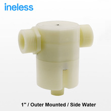 "Free shipping 1"" Side Built-in Water Outer Mounted Automatic Float Valve Water Level Control Valve For Solar Water Tank Pool"