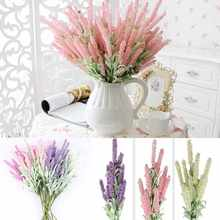 1 Artificial Lavender Flowers Bouquet Home Wedding Table Decor Vivid Handcraft