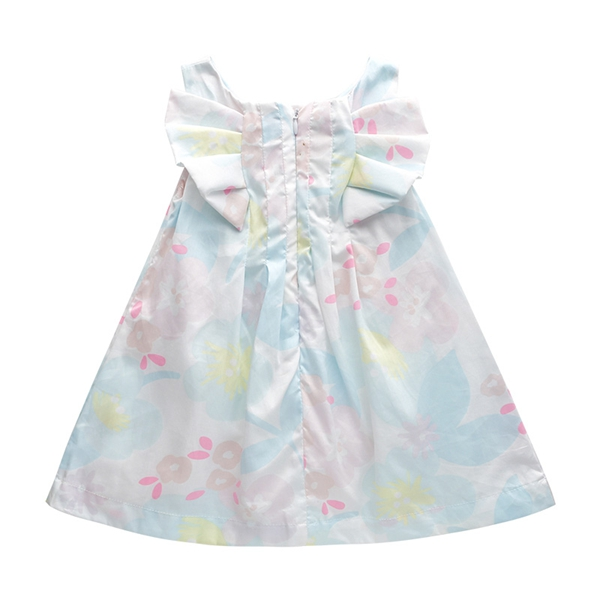 Europe and the United States 17 new summer fresh Macarons color flower girls cotton vest  dress<br>