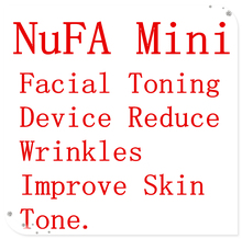 Face Lift Tools NuFA Mini Facial Toning Device Reduce Wrinkles Improve Skin Tone facial massager device(China)