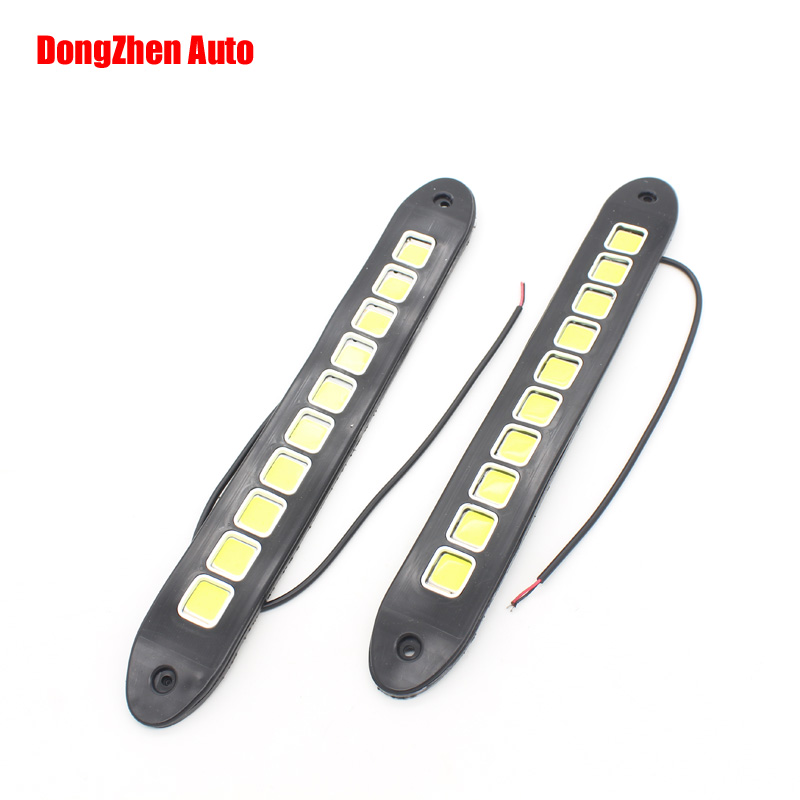 High Power Flexible LED Daytime Running Light COB Day Lights Soft DRL Fit For Universal Cars Honda Toyota VW Ford<br><br>Aliexpress