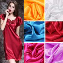 Satin-Fabric Sewing-Dresses Wedding Lining for Costumes DIY Curtain Imitated Silk Patchwork
