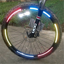 2016 Fluorescent MTB Bike Bicycle Motorcycle Wheel Tire Tyre Reflective Stickers Decal Tape Safety Silver For Bike New 6