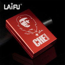 Personalized ultra thin automatic cigarette case Red Che Guevara Laifu brand male metal e cigarettes boxes laser design forever(China)