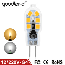 Goodland G4 LED Lamp 3W AC/DC 12V LED G4 Bulb Mini AC 220V 240V G4 LED Light SMD2835 Replace Halogen Chandelier Lamp