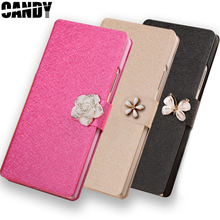 Case For ZTE Blade Q Lux 3G / 4G Flip PU Leather Wallet Diamond fundas hoesjes with stand covers Blade Q lux(China)