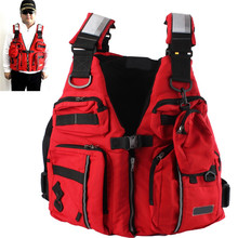 New Detachable Adult Life Jacket Vest Aid Sailing Surfing Fishing Kayak Boating Outdoor Sports With ManyPockets(China)