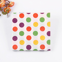Food grade100pcs table paper napkin tissue patterned color spots printed birthday wedding cocktail party home hotel decorative