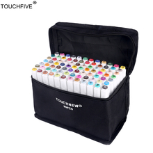 TouchFIVE 36/48/72/80/168 Colors set Art Markers alcohol Dual Headed  graffiti pen markers pen For Animation Manga Design