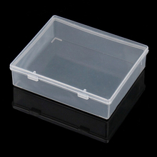 1PC Parts box collapsible rectangle Plastic Boxes Transparent Plastic Container Storage Blank Component Screw Jewelry Tool Boxes(China)