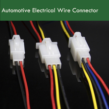 10PCS 2.8MM Automotive Electrical Wire Connector Male Female 2/3/4 Pin 18AWG 30CM Motorcycle Car(China)