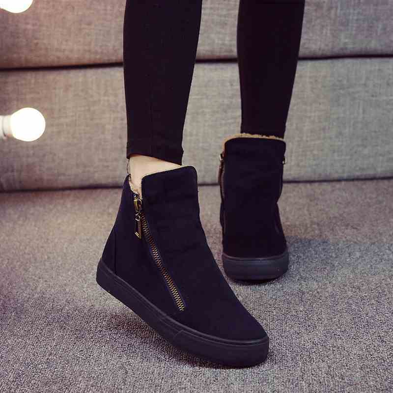 2017 New cotton Boots to keep warm winter cotton shoes female flat with velvet Martin Boots Boots and winter Shoes Women short t<br><br>Aliexpress
