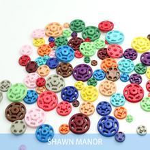 10-18mm Colored Plastic Snap Button Invisible Buttons For Shirts Clothing Sewing 100Sets