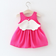 2017 Summer cute little angel Baby Dress Princess Dress Fashion chiffon Baby Infant Dress 0-2 Years(China)