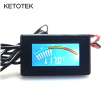 Celsius Fahrenheit Digital Pointer Thermometer Car Water Temperature Meter Gauge C/F PC MOD for Computer Case
