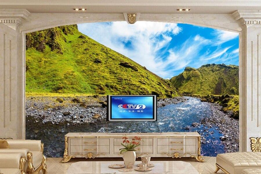 Custom 3D mural,papel de pared,Iceland Mountains Rivers Canyon nature wallpaper,living room sofa TV wall bedroom 3d wallpaper<br>