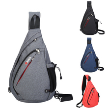 Casual Canvas Sling Bags Men Versatile Daypack Stylish Chest Bags Crossbody Satchels Promotional Triangle Bag