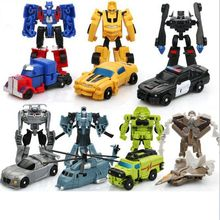 Original box 7 style transformation Robot Action Figure Toys Mini Cars Robot Classic model Toys For Children Gifts Brinquedos(China)